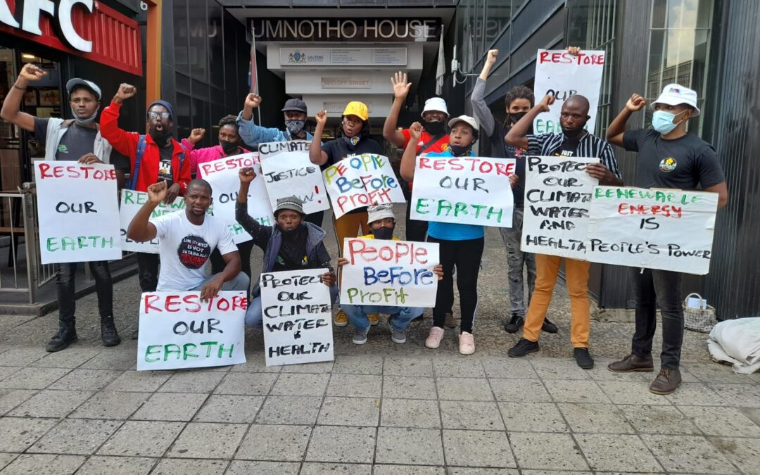 EARTH DAY/MONTH: SA YOUTH PICKET IN JOHANNESBURG