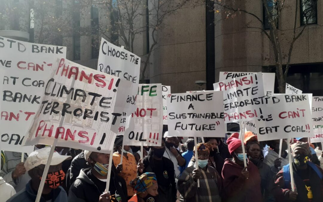"""""""STANDARD BANK AND TOTAL, STOP KILLING AFRICANS WITH FOSSIL FUELS"""" – CIVIL SOCIETY"""